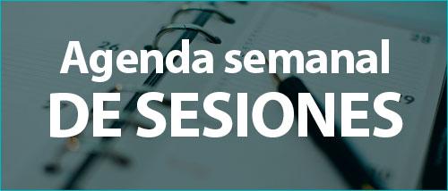 AGENDA SEMANAL DE SESIONES