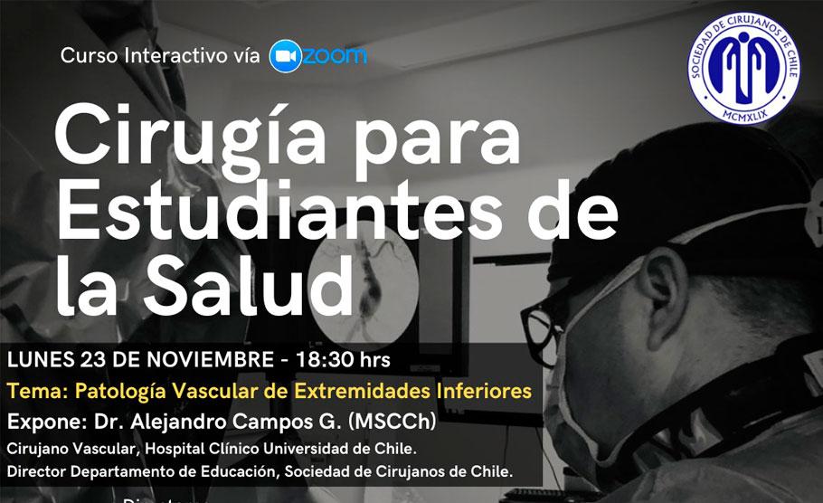"""""""Patología Vascular de Extremidades Inferiores"""" (Curso Cirugía para Estudiantes de la Salud)"""