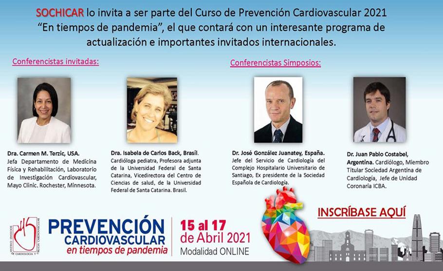 """Curso de Prevención Cardiovascular 2021 """"En tiempos de pandemia"""""""