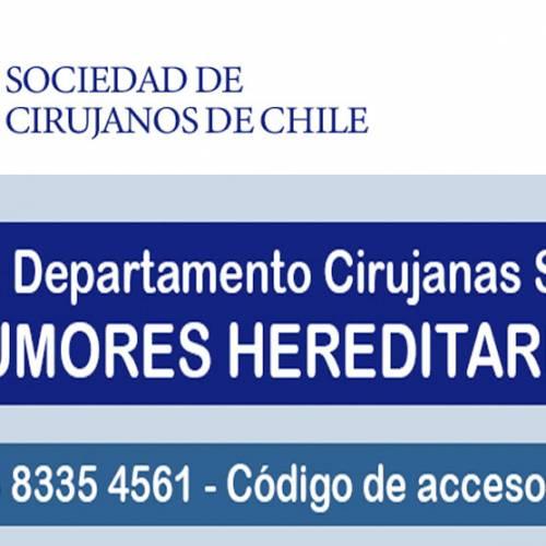 """Sesión Departamento Cirujanas SOCICH """"Tumores Hereditarios"""""""